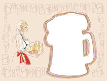 Bavarian woman with beer Stock Image
