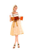 Bavarian woman with beer Stock Photos