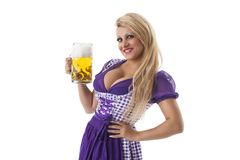 Bavarian woman Stock Images