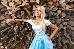 Bavarian woman stock photography
