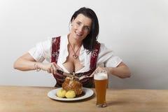 Bavarian woman Stock Photos