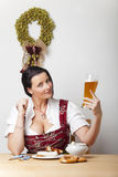 Bavarian woman stock image