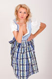 Bavarian woman with a kiss Royalty Free Stock Photo
