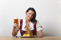 Bavarian woman royalty free stock photos