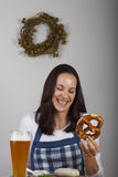 Bavarian woman Royalty Free Stock Photo