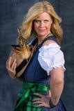 Bavarian Woman in traditional clothing, Oktoberfest - Series 1/21 Stock Photos