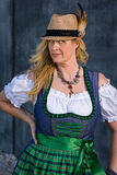 Bavarian Woman in traditional clothing, Oktoberfest - Series 1/21 Stock Image