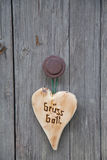 Bavarian wooden heart with hello text in german letters. Bavarian wooden heart with welcome text in german letters stock photos