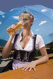 Bavarian young women Stock Images