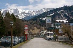The Bavarian Zugspitze Railway stock photo