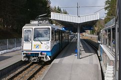 The Bavarian Zugspitze Railway - Grainau royalty free stock photography