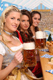 bavariankvinnor Arkivfoto