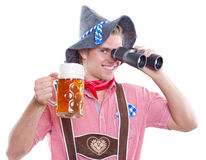 Bavarianman Stockfoto