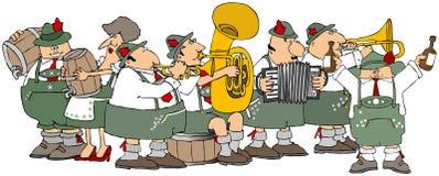 Bavarians having an Oktoberfest party stock images