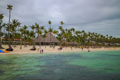 Bavaro海滩在蓬塔Cana,多米尼加共和国 库存图片