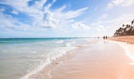 Bavaro beach coastal landscape Royalty Free Stock Photo
