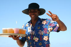 Bavaro beach waiter Royalty Free Stock Photos
