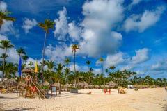 Bavaro plaża Atlantyk wybrzeże republika dominikańska obrazy stock