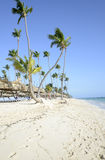 Bavaro strand i Punta Cana i Dominikanska republiken Royaltyfri Foto