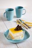 Bavaroise with lemon jelly Royalty Free Stock Image