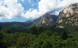 Bavella mountains in corsica Royalty Free Stock Image