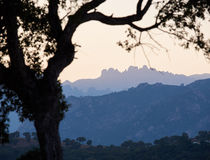 Bavella mountains. The Bavella mountain range in Corsica with its bizzare and rugged peaks Stock Photo