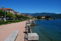 Baveno, Lago Maggiore, Italy. Baveno, view of the lakeside promenade, Lago Maggiore, Italy royalty free stock photography