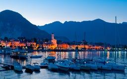 Baveno, Lago Maggiore, Italy. Baveno view and boats, Lago Maggiore, Italy Stock Image
