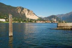 Baveno, lake Maggiore, Italy. Baveno, a lakeside resort by lake Maggiore, Piedmont, Italy stock image