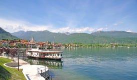 Baveno, Meer Maggiore, Lago Maggiore, Italië stock foto's
