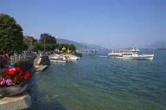 Baveno sjö Maggiore, Italien royaltyfri foto