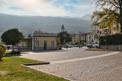 Baveno, vila no lago Maggiore, Itália foto de stock royalty free