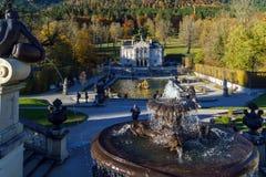 Baviera, Alemanha - 15 de outubro de 2017: Palácio 1863-188 de Linderhof Foto de Stock