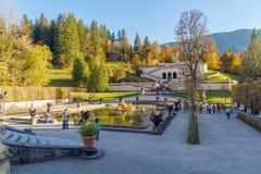 Baviera, Alemania - 15 de octubre de 2017: Palacio 1863-188 de Linderhof Fotos de archivo libres de regalías