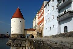 Baviera de la 'promenade' de Passau fotografía de archivo libre de regalías