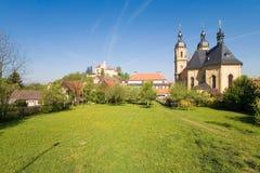 Baviera, Gößwein, basílica y castillo Fotografía de archivo