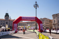Bavisela, Halbmarathon in Triest Stockfotos