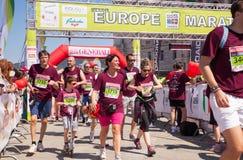 Bavisela, Halbmarathon in Triest Stockfoto