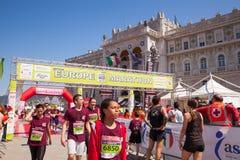 Bavisela, medio maratón en Trieste Imagen de archivo libre de regalías