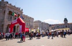 Bavisela, medio maratón en Trieste Foto de archivo