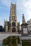 bavo大教堂跟特圣徒 免版税库存照片