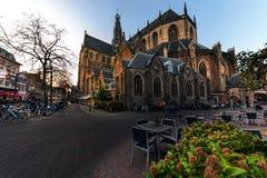 Bavo kyrka på Haarlem Arkivbilder