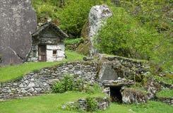 Bavona Valley,Locarno,Ticino,Switzerland Stock Photos