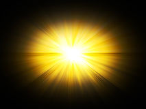 Bavure, le soleil. illustration stock