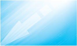 Bavure rapide sur le fond bleu vif Photo stock