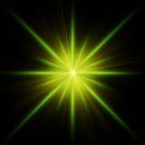 Bavure verte d'étoile avec des transitoires illustration libre de droits