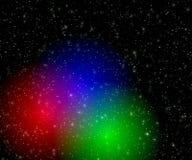 Bavures de couleur dans l'espace Photographie stock