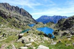 Bavures et lacs Munyidera Image stock