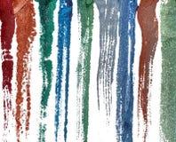 Bavures humides de peinture Image libre de droits