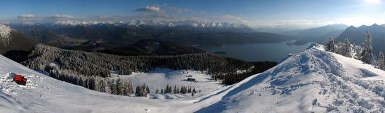 Bawarscy alps: Jochberg Obrazy Royalty Free